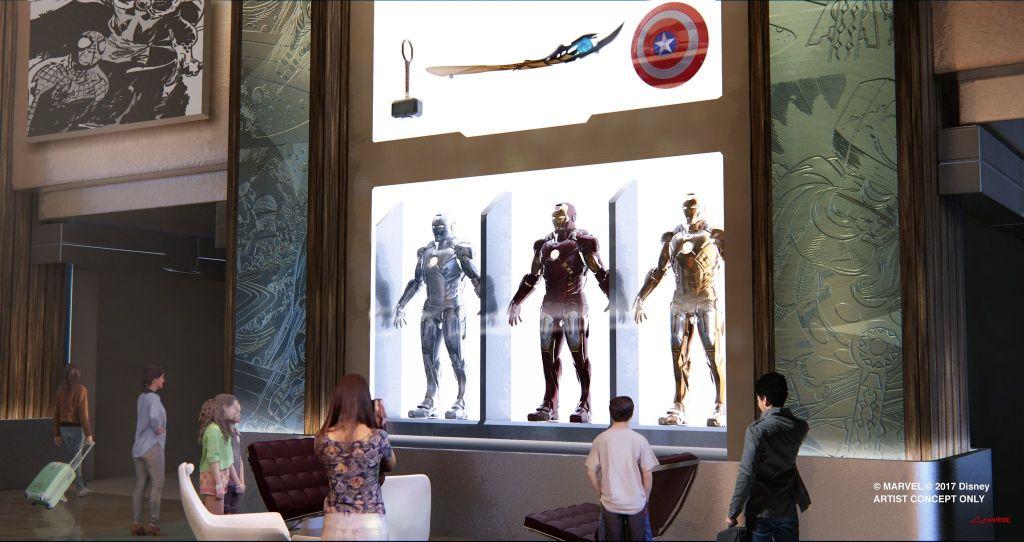 the-art-of-marvel-iron man disney paris hotel