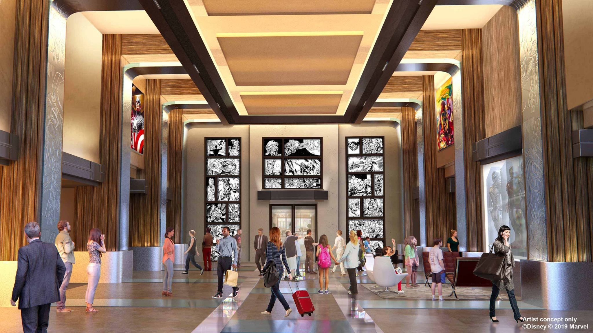 lobby-disney-hotel-newyork-marvel-disneyland-paris