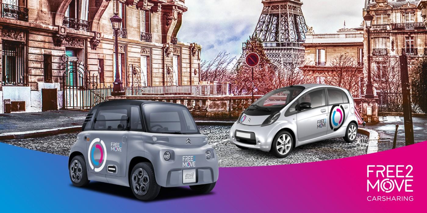 free2move paris découverte carsharing autopartage location déplacements nuit citroen ami c0