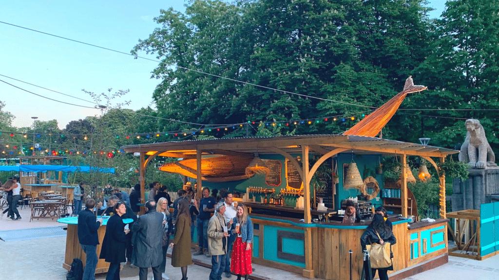 Poisson Lune terrasse éphémère Palais de la Porte Dorée Paris