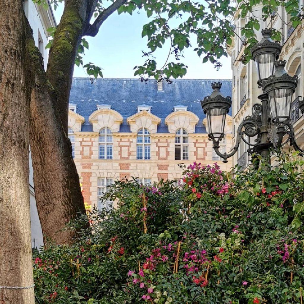 Place Furstenberg installation florale monumentale Paris Parcours Saint-Germain street art