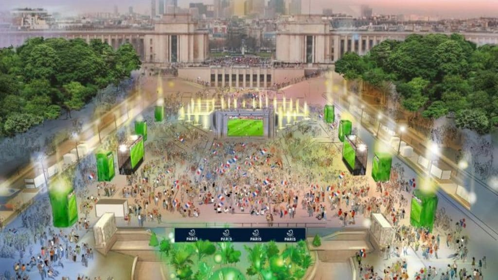 fanzone fan zone jo jeux olympiques paris trocadéro sport
