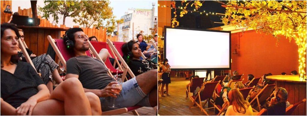 Cinéma plein air gratuit Bar à bulles rooftop Moulin Rouge 2021