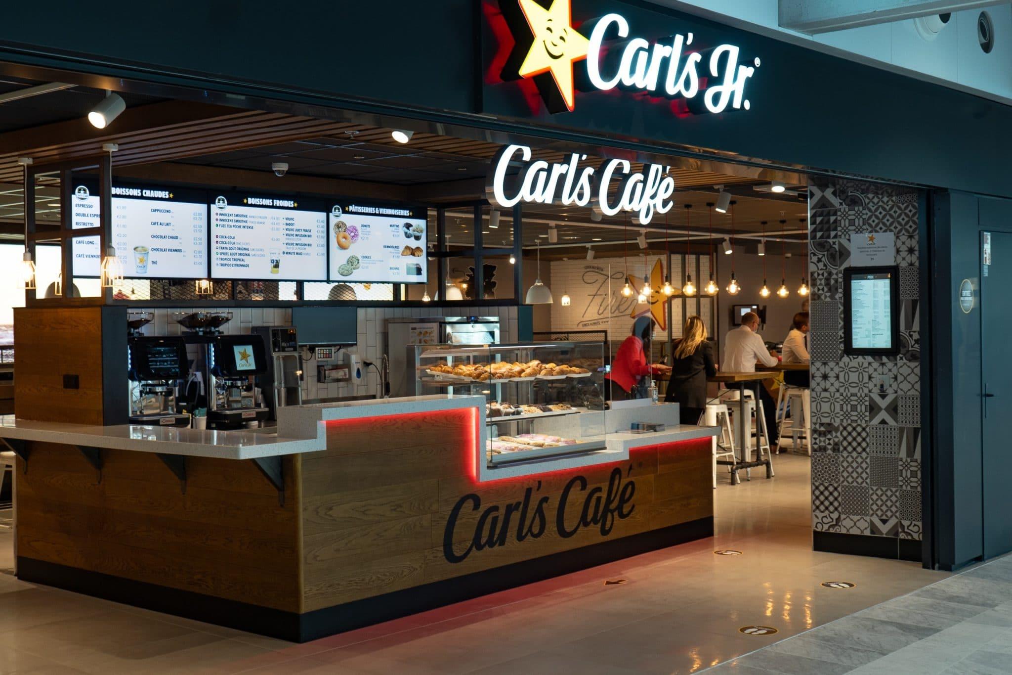 carl's jr paris aeroport carl's jr café barista burger milkshake