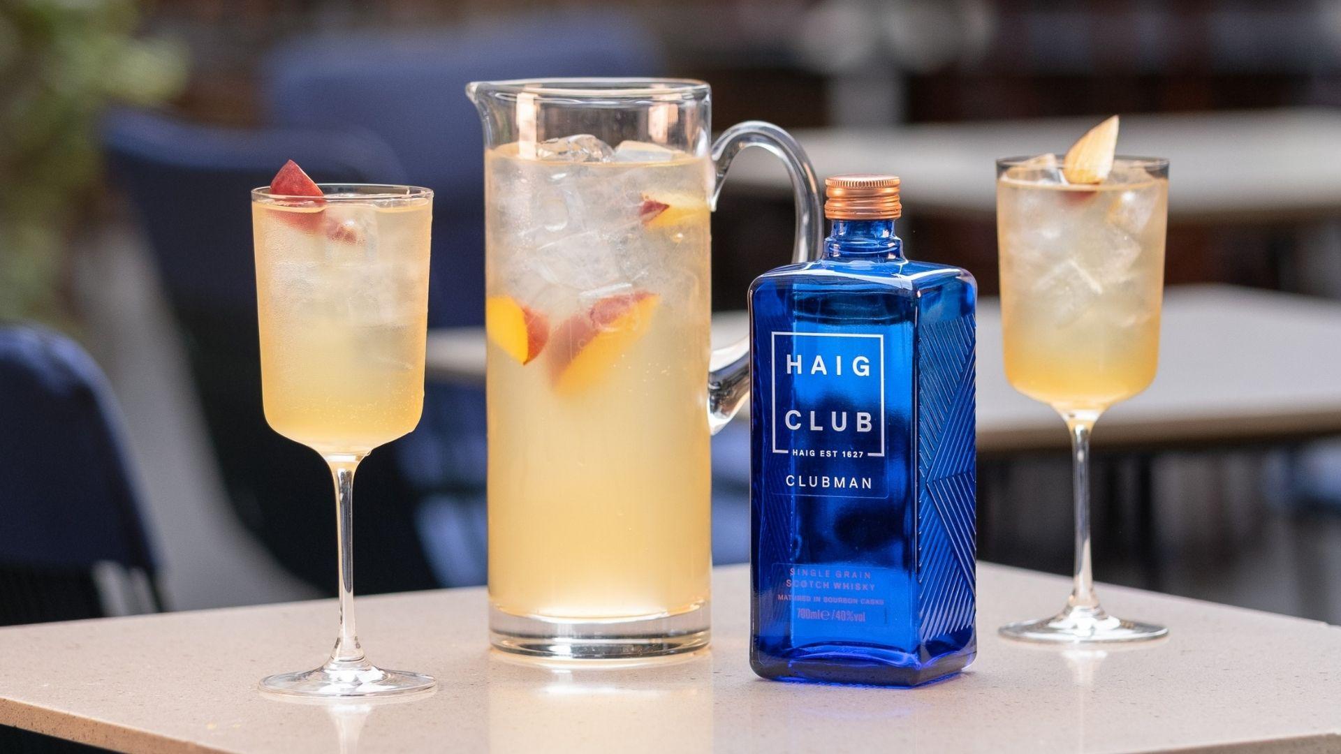 haig club cocktail peach club whisky