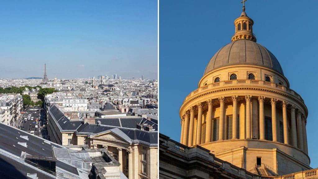 pantheon panorama paris vue colonnades billets visite