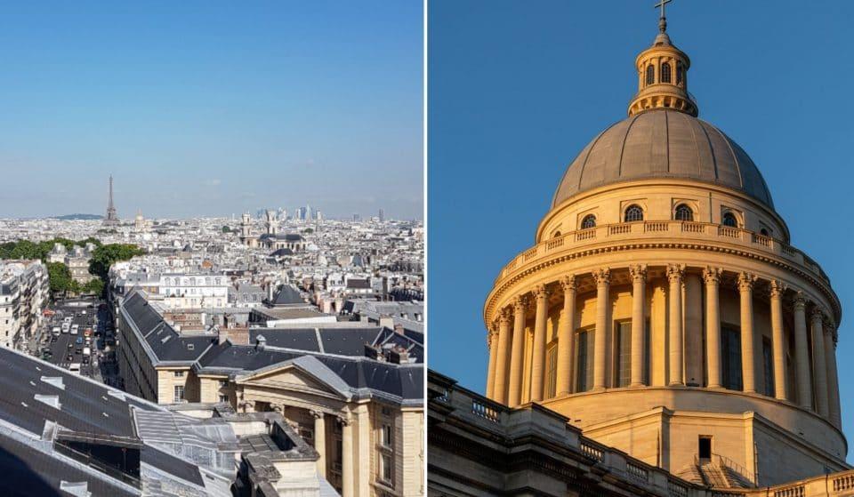 Découvrez la magnifique vue panoramique de Paris depuis les colonnades du Panthéon !