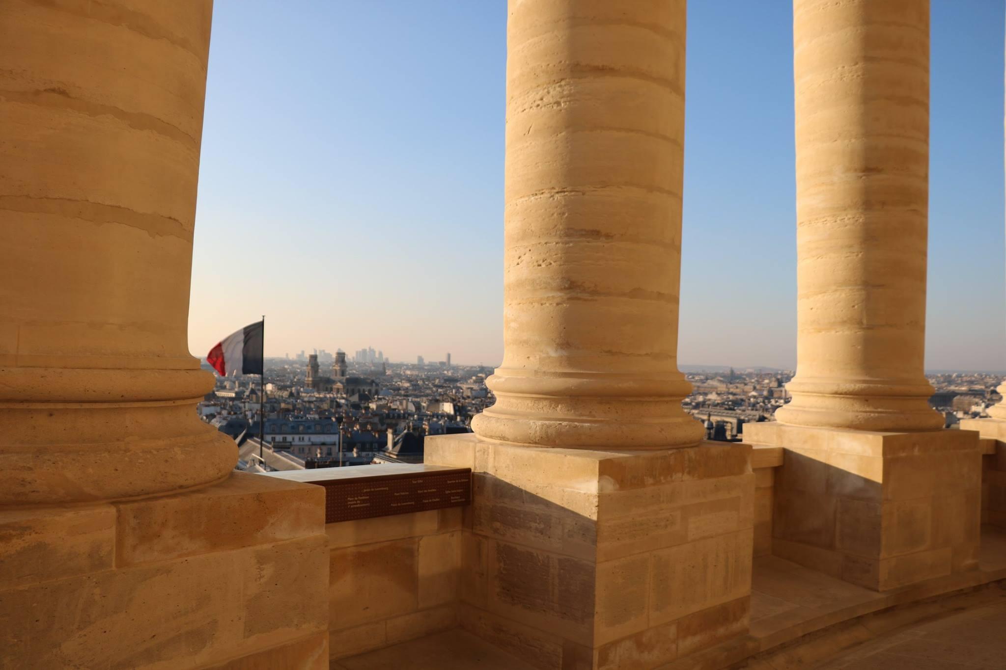 pantheon panorama paris vue colonnades