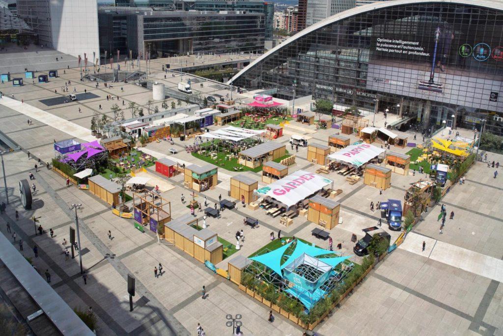 Garden Parvis Open air 6000 m2 Paris La Défense été 2021