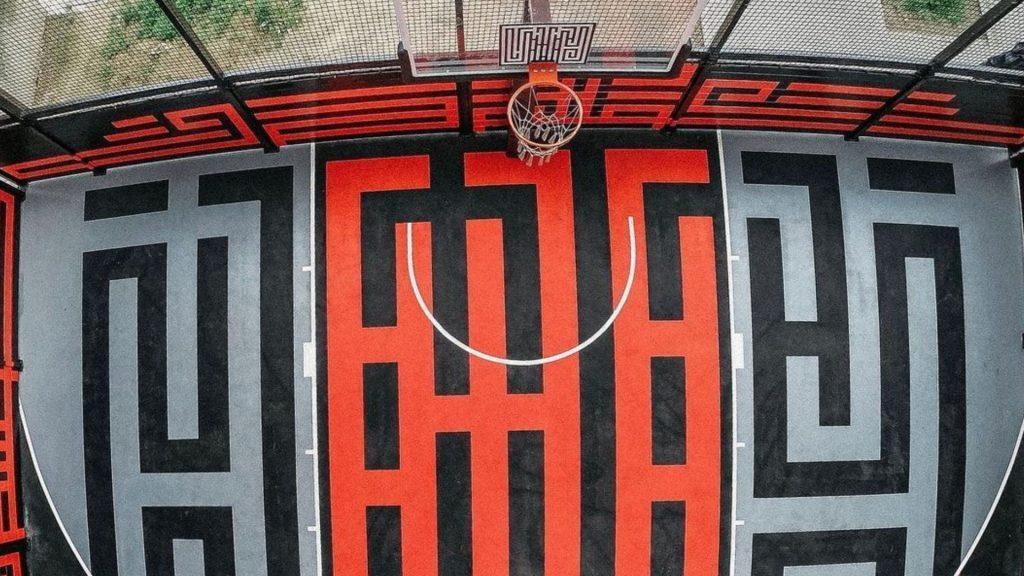 terrain de basket street art paris vincent auriol paris 13