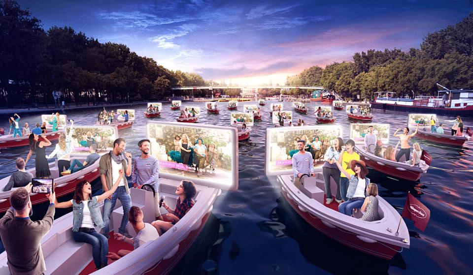 Insolite : le 1er Ciné-Karaoké sur l'Eau GRATUIT s'installe au Bassin de La Villette !
