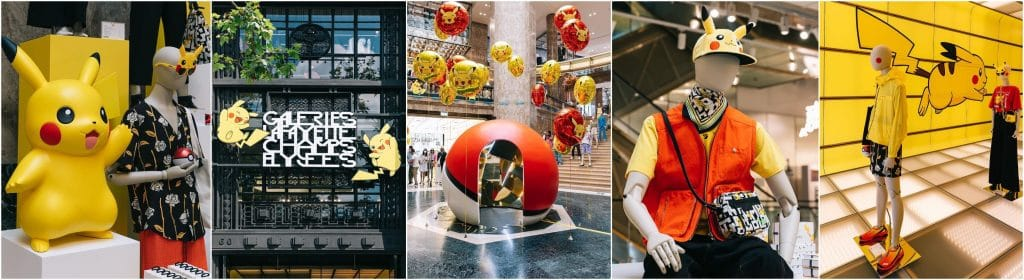pop up store Pokémon anniversaire 25 ans Galeries Lafayette Champs Elysées Paris
