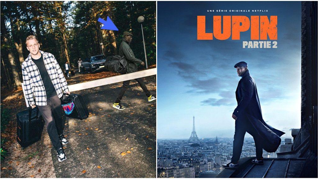 Omar Sy s'incruste photos joueurs de l'Euro promotion Lupin partie 2
