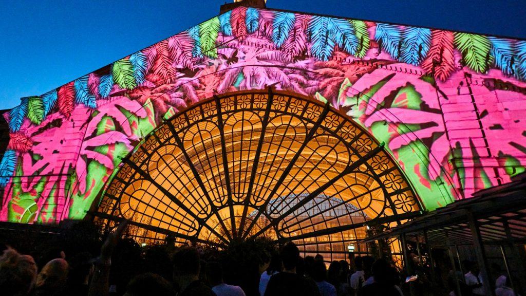 Projections video mapping Perchoir de l'Est Paris