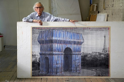 Arc de Triomphe empaqueté artiste Christo posthume 2021