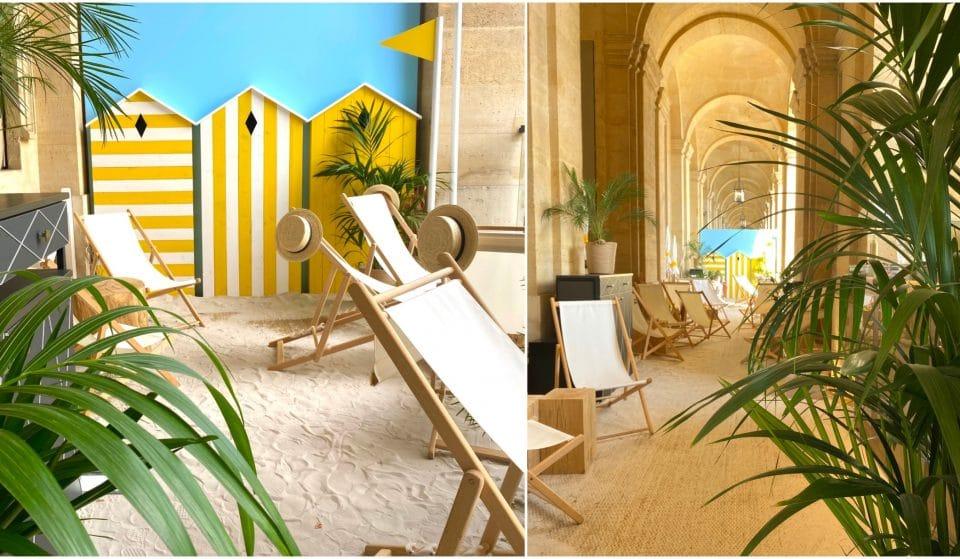 Terrasse «Le Guanahani» : une plage tropicale éphémère et ses cabanes à glaces by Matthieu Carlin s'installent à Paris !