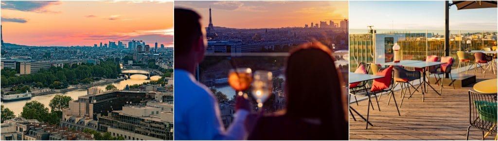 Laho Paris plus beau rooftop coucher de soleil