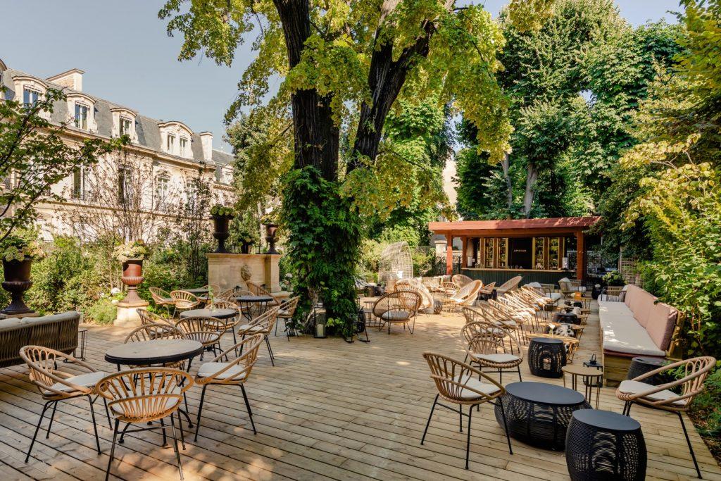Restaurant terrasse corse éphémère Apicius Paris