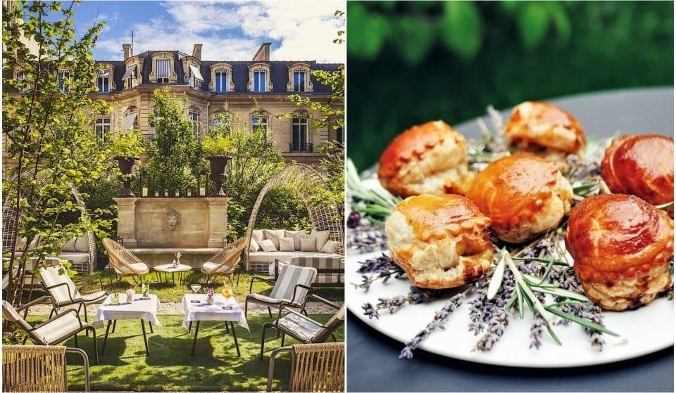 Pour l'été, le restaurant Apicius dévoile dans ses jardins une splendide terrasse Corse éphémère !
