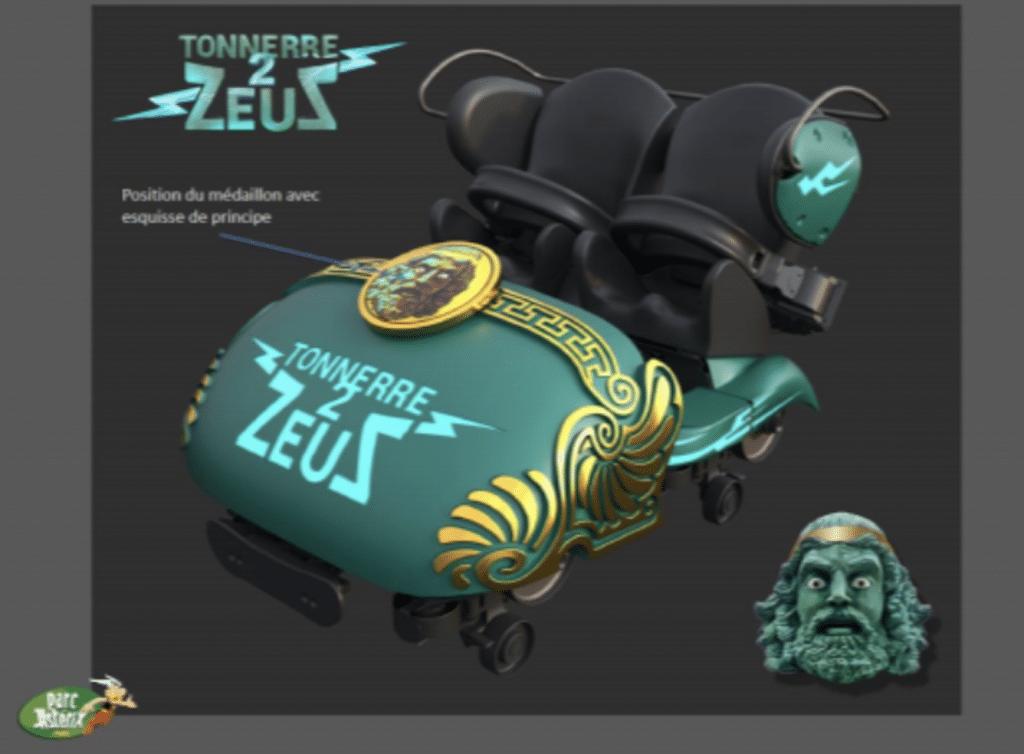 Nouvelle attraction Tonnerre de Zeus Parc Astérix