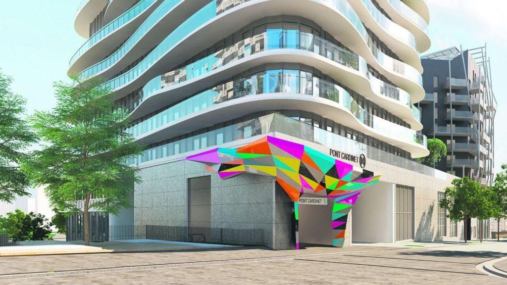 station pont cardinet ligne 14 métro paris art tobias rehberger sculpture