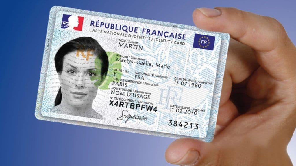 carte nationale d'identité format carte bancaire cni cnie nouvelle france