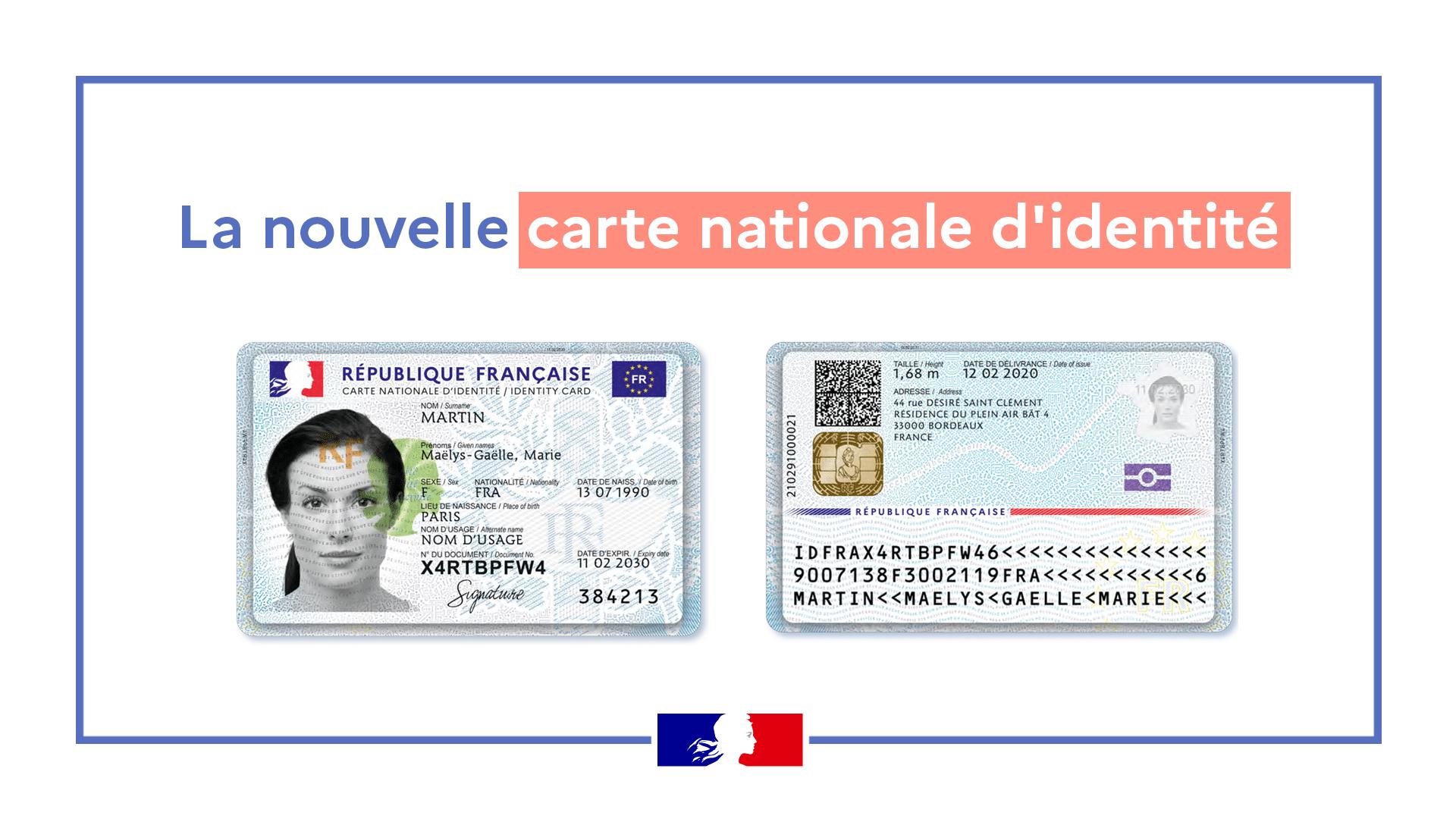 nouvelle carte d'identité nationale électronique france carte format