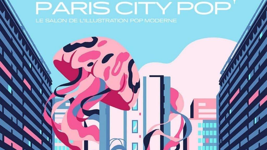 paris city pop festival illustration salon