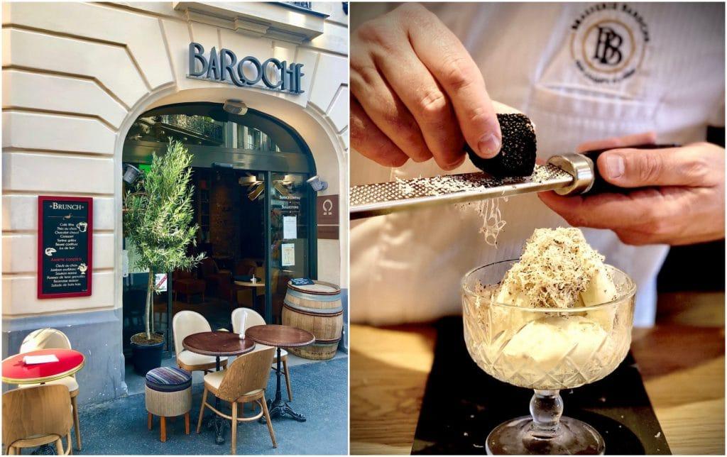 Brasserie Baroche Paris glace vanille truffe d'été Foodporn