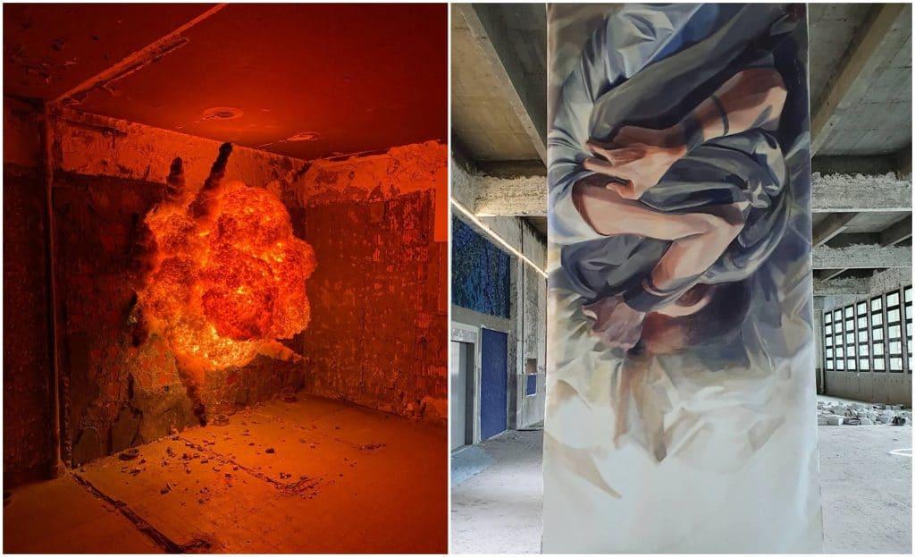 «L'Essentiel» : 2000 m2 de street art éphémère dans un immeuble désaffecté à la Gare de l'Est !