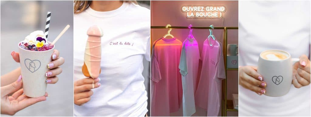 T shirt mug tote bag, corner lifestyle insolite La Quequetterie Paris