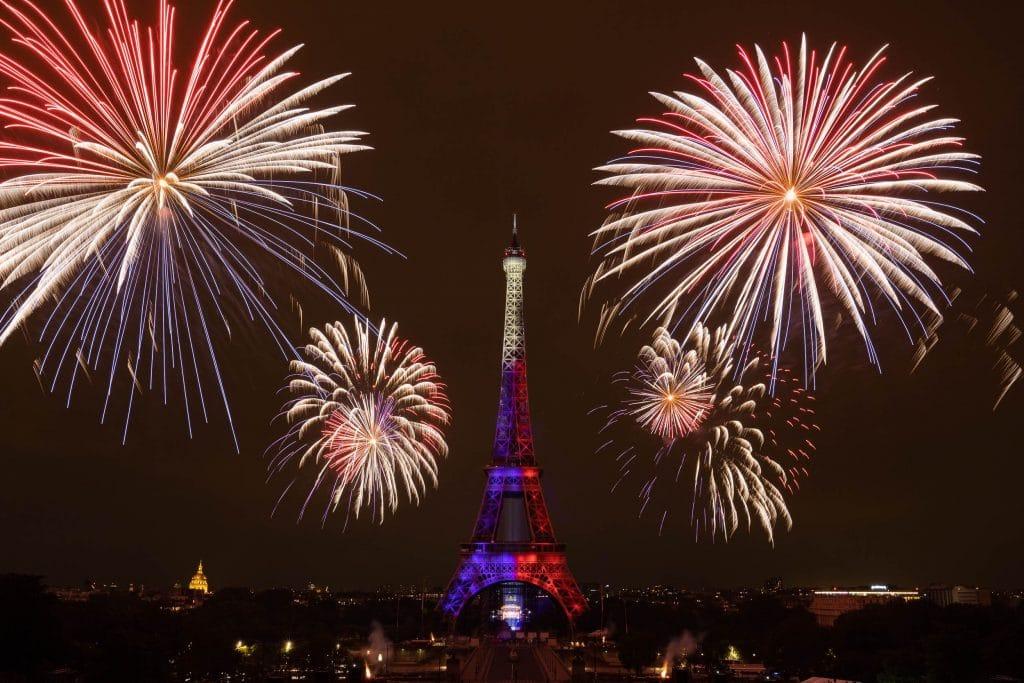 Feu d'artifice 14 juillet Tour Eiffel