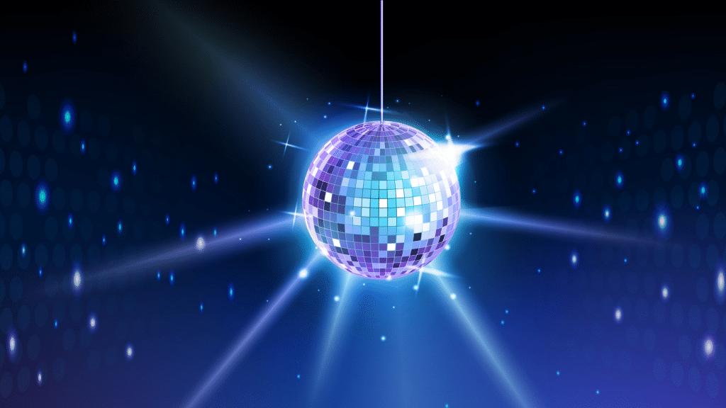 Emoji boule à facettes disco iOs Android
