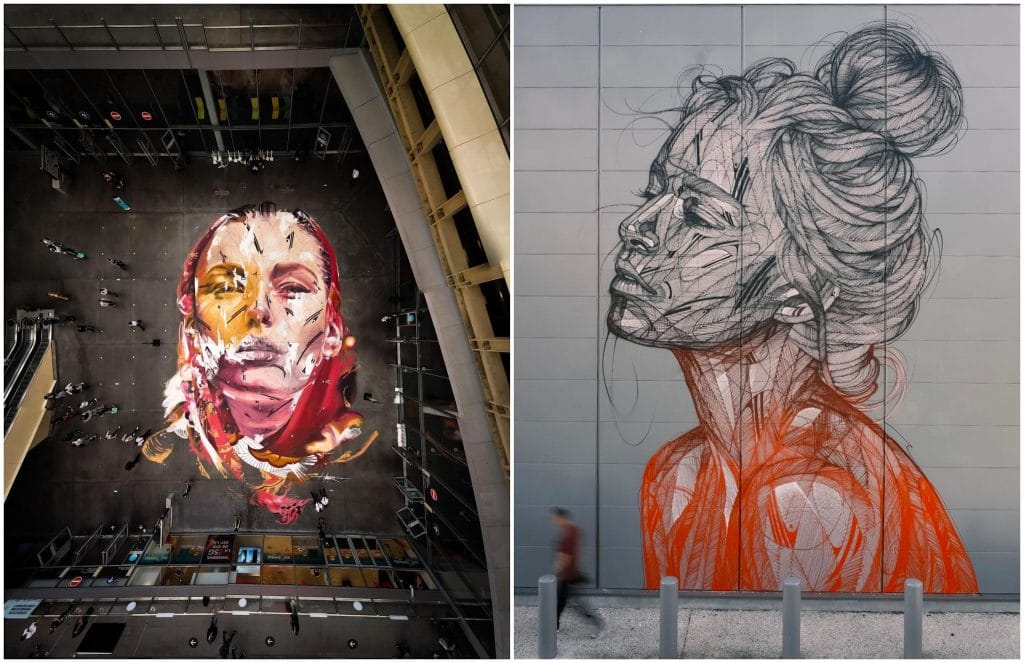 street art fresques monumentales Paris Hopare