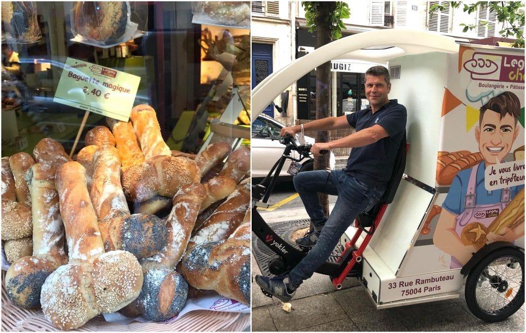 Paris boulangerie coquine Legay Choc livraison Triporteur