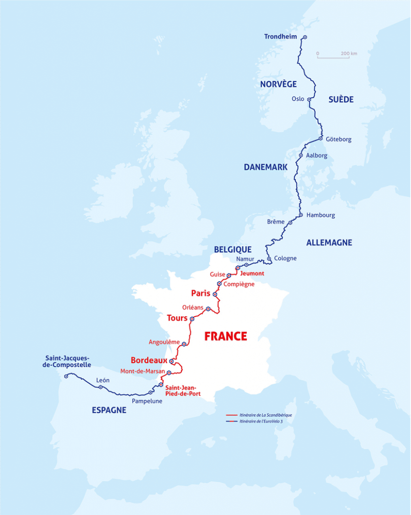 Scandibérique vélo France Norvège Espagne