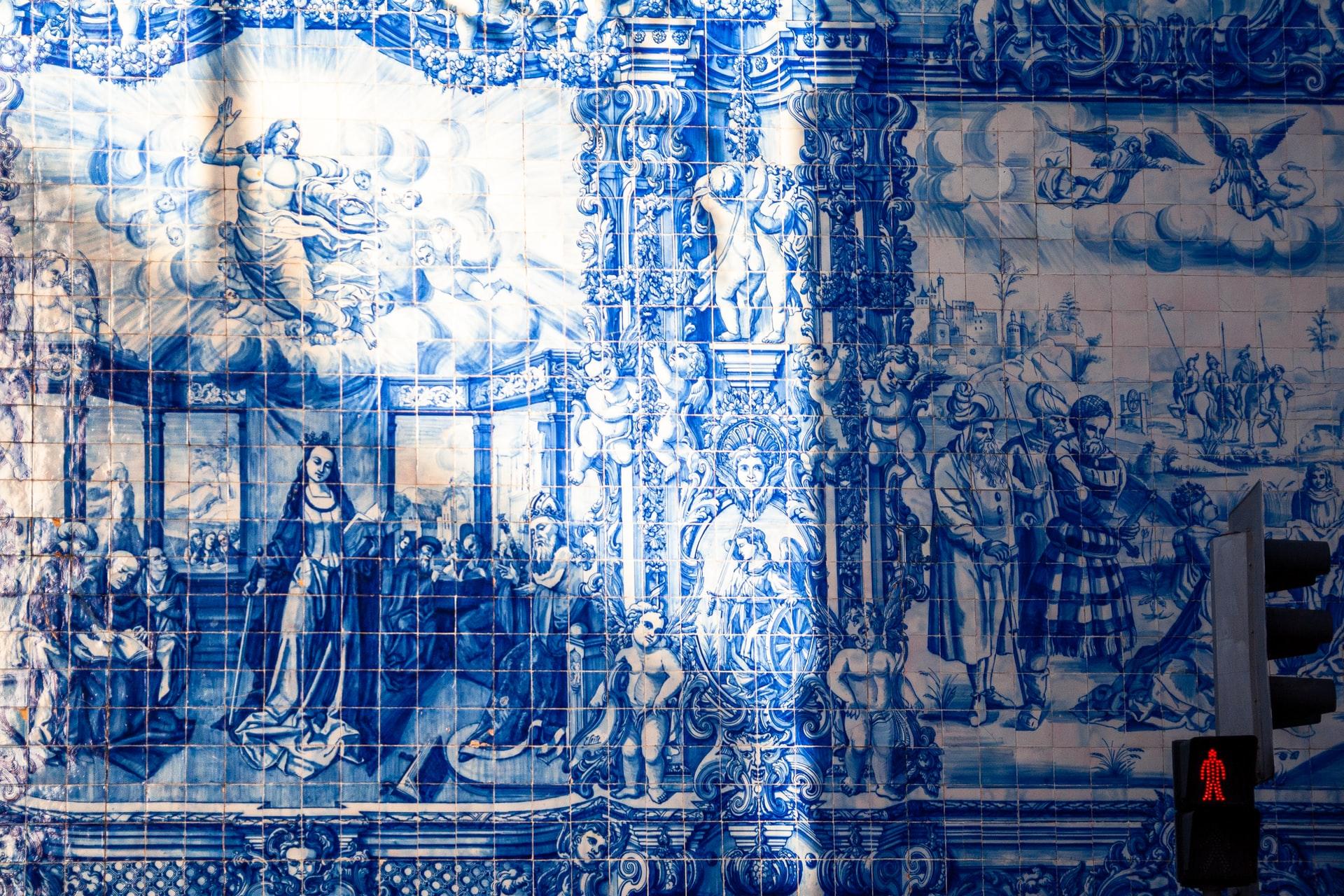 azulejos portugal carrelage bleu typique patrimoine