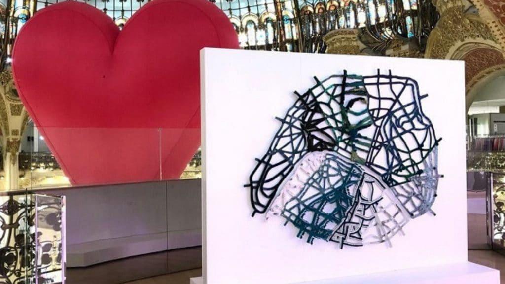 Une nouvelle œuvre dédiée à Paris aux Galeries Lafayette avec «Paris Mon Amour» cet été !