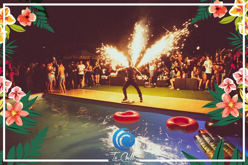 pool party la chill paris summer party fete piscine dj set night show