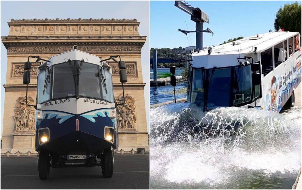 Insolite Marcel le canard 1er bus amphibie de France Paris
