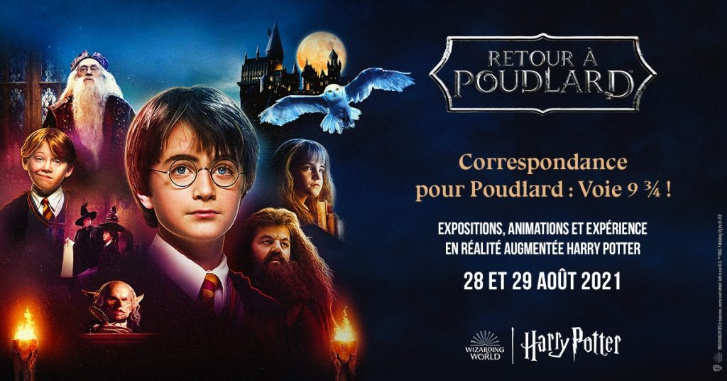 Harry Potter Poudlard Express grandeur nature Gare Saint Lazare 28 29 août Paris