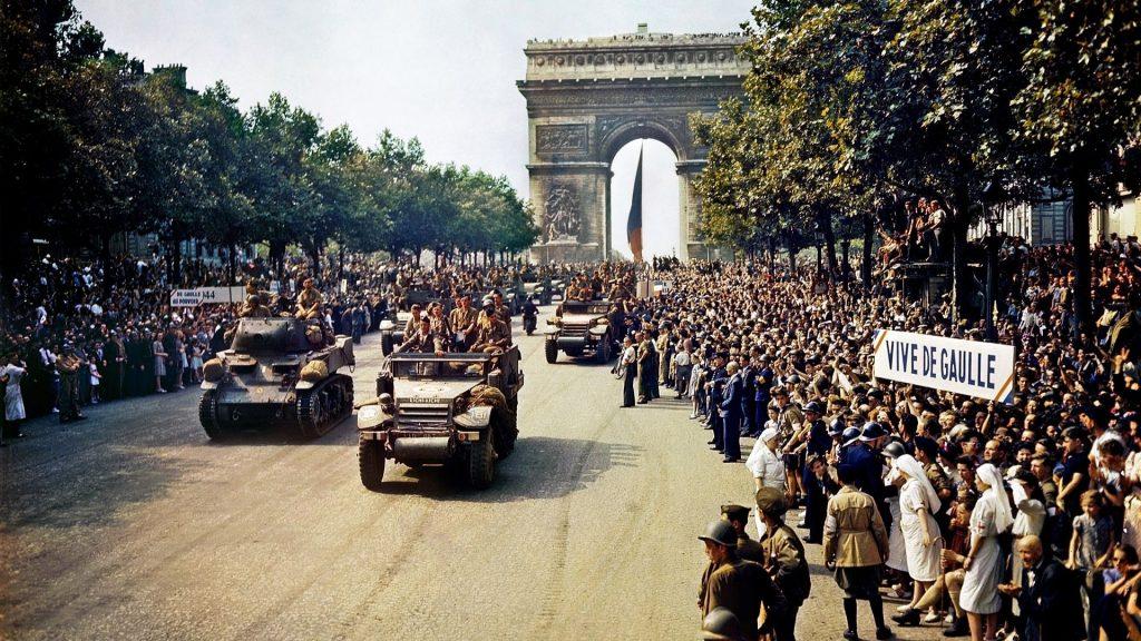 libération de paris histoire seconde guerre mondiale de gaulle champs élysées