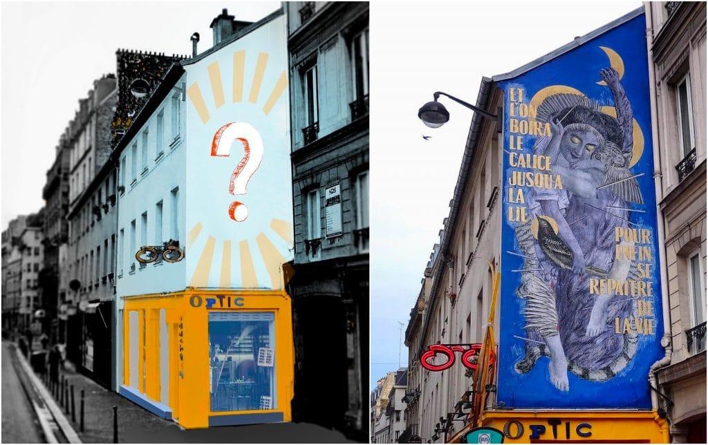 Street art nouveau MUR Bastille septembre
