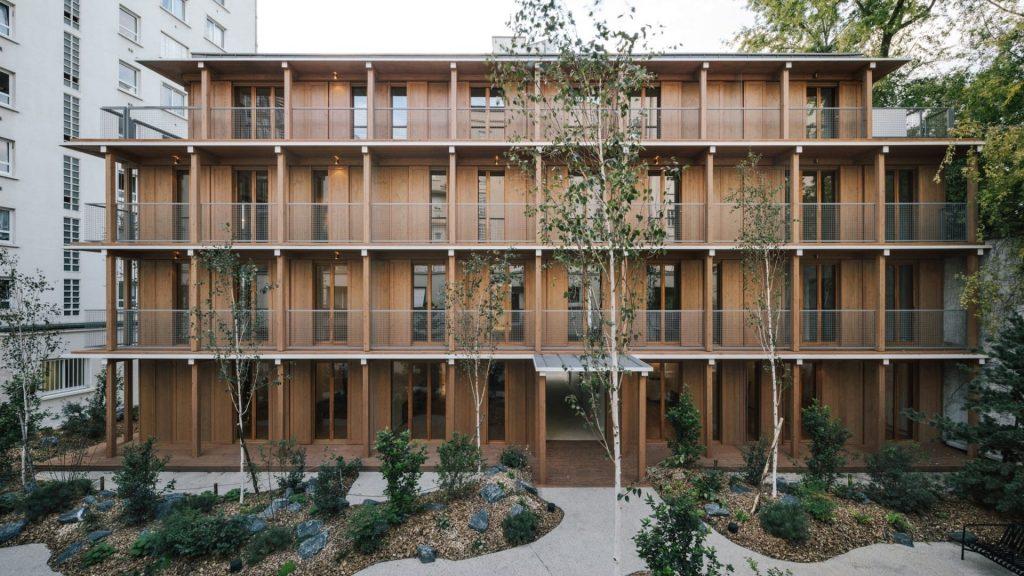 architecture paris résidence zen japon bois écologie
