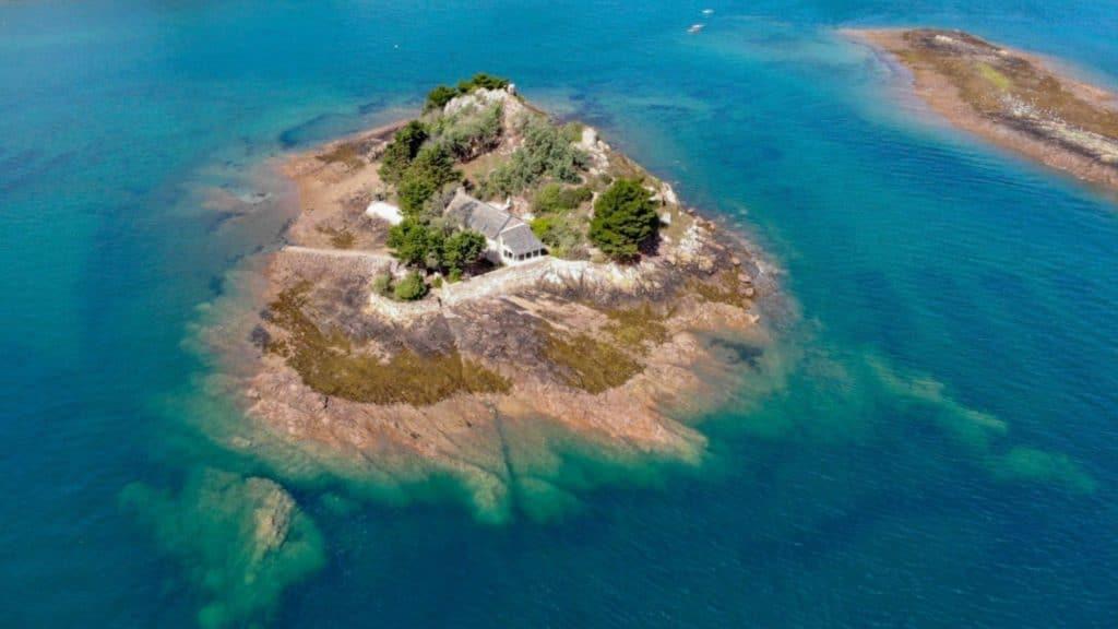 île privée à vendre bretagne france nature vue estuaire trieux maison annonce immobilier