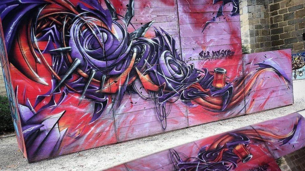 rea one street art paris mur oberkampf