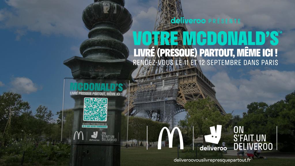 Deliveroo McDonald's livré presque partout Paris
