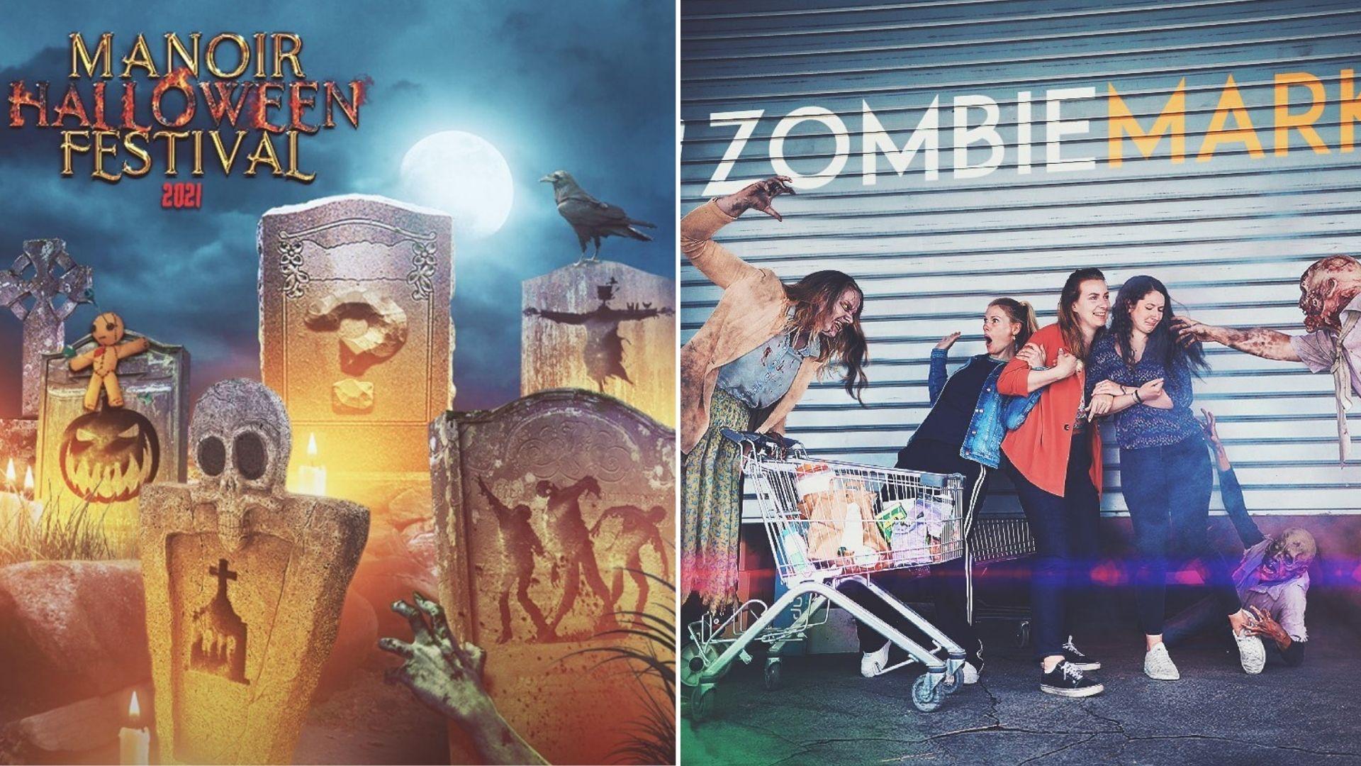 manoir halloween festival paris villette zombie run maison hantée