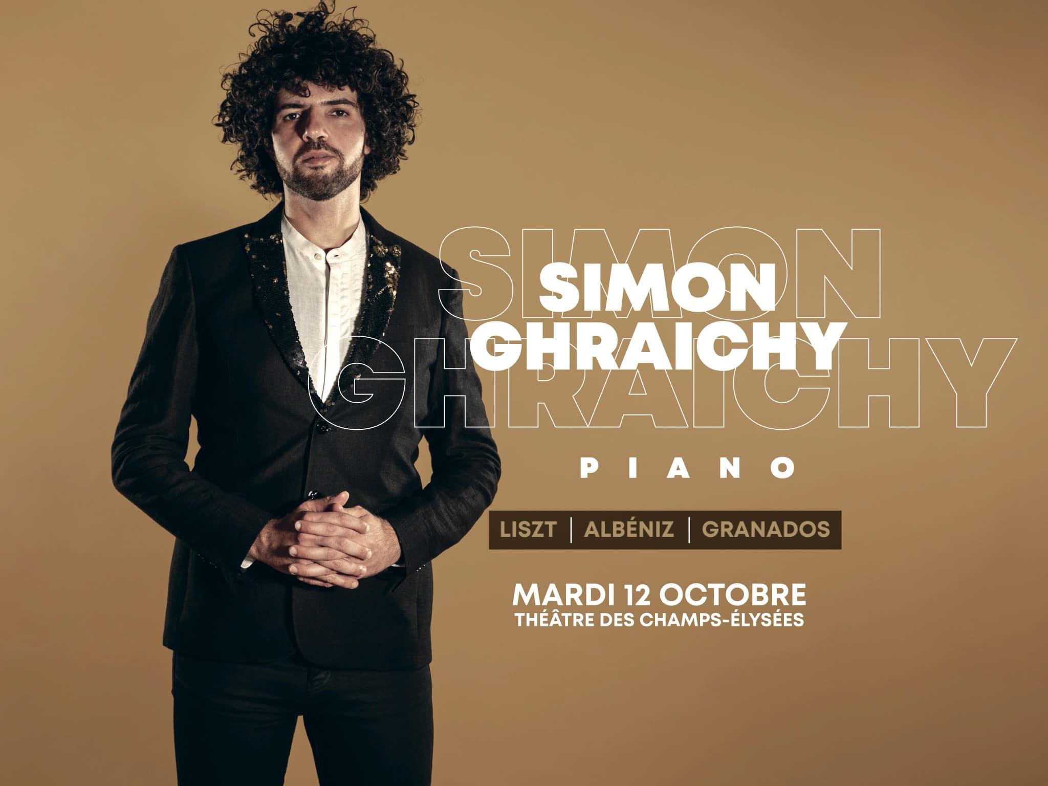 simon ghraichy concert paris piano octobre musique classique