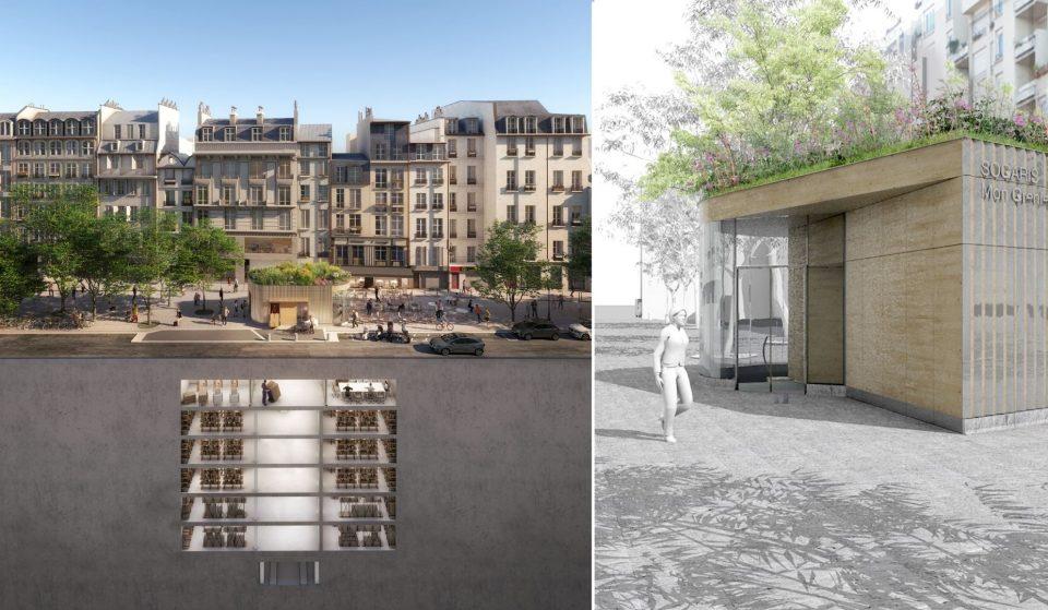 """Projet """"immeuble inversé"""": un ancien parking transformé en bâtiment insolite !"""